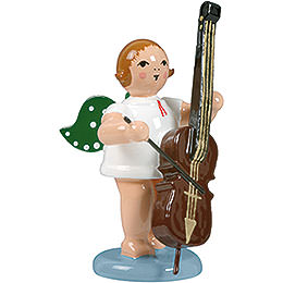 Angel with double bass  -  6,5cm / 2.5inch