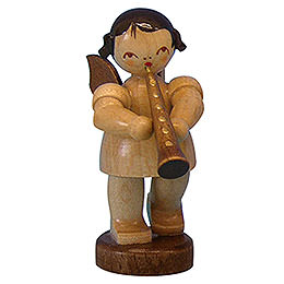 Angel with oboe  -  natural colors  -  standing  -  6cm / 2,3 inch
