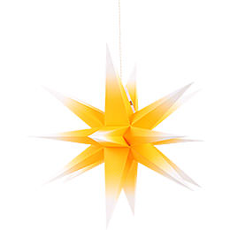 Annaberg folded star yellow - white  -  35cm / 13.8inch