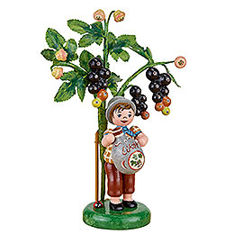 Autumn children figure of the year 2017 black currant  -  13cm / 5.1inch