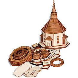Bastelset Seiffener Kirche mit Beleuchtung  -  17cm