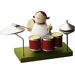 Big Band guardian angel with drums  -  3,5cm / 1.3inch