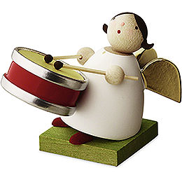Big Band guardian angel with small drum  -  3,5cm / 1.3inch