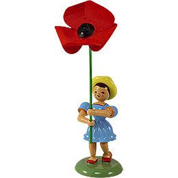 Blumenkind mit Mohnblume  -  12cm