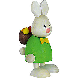 Bunny Max with back pack rod and eggs  -  9cm / 3.5inch