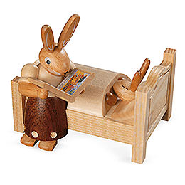 Bunny Mom tells good night stories  -  9cm / 3.5 inch