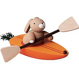 Bunny in carrot canoe  -  3,5cm / 2inch / 1.4inch