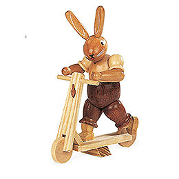 Bunny with Scooter  -  11cm / 4 inch
