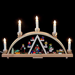 Candle Arch Christmas at Seiffen  -  19 x 11 inch  -  48 x 28cm