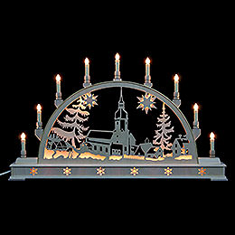 Candle Arch  -  Erzgebirge landscape with base  -  78cm x 45cm / 31 x 18 inches