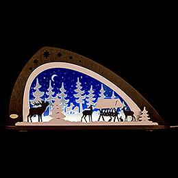"Candle Arch  -  LED ""Animals of the Forest""  -  66x33,8cm / 26x13.3 inch"