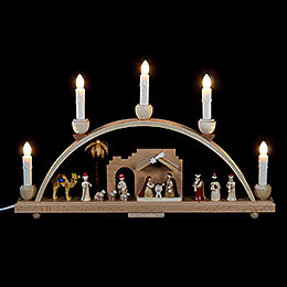 Candle Arch Nativity scene  -  19 x 11 inch  -  48 x 28cm
