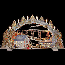 Candle Arch  -  Train Ride in the Ore Mountains (variable)  -  72x43x13cm / 28x16x5 inch