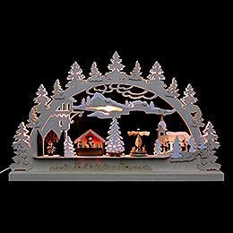 Candle Arch  -  Village Christmas  -   62x37x5,5cm / 24x14x2 inch