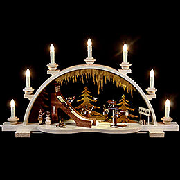 Candle Arch  -  Wintersport  -  65cm / 26 inch  -  120 Volt (US - Standard)