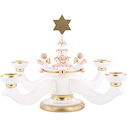 Candle Holder  -  Advent White  -  20,0cm / 8 inch