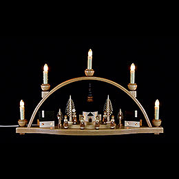 "Candle arch ""Church of Seiffen""  -  51x30x12cm / 20x11.8x4.7inch"