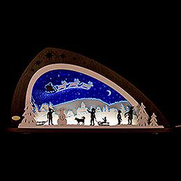 "Candle arch LED ""Santa Claus""  -  66x33,8cm / 26x13.3inch"