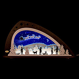 "Candle arch LED ""Santa Claus""  -  66x33,8cm / 26x13.3inch"