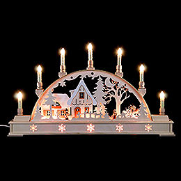Candle arch with lantern children  -  63,5x29x7,5cm / 25x11.5x3inch