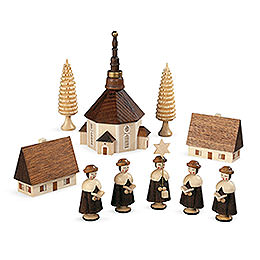 Carolers Church of Seiffener  -  12cm / 5 inch