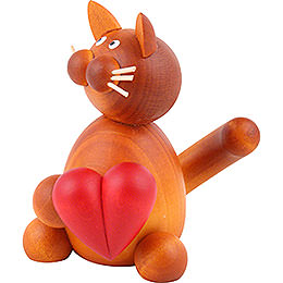 Cat Charlie with Heart  -  8cm / 3.1 inch