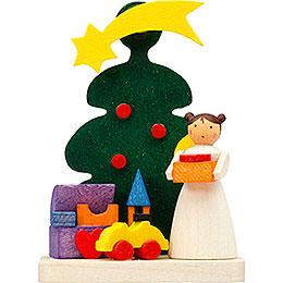 Christbaumschmuck Baum - Engel mit Spielzeug  -  6cm