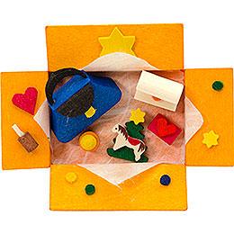 Christbaumschmuck Geschenkpäckchen Damengeschenke mit Klammer  -  7cm