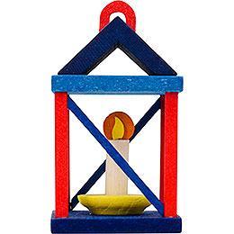 Christbaumschmuck Laterne, rot und blau  -  5cm