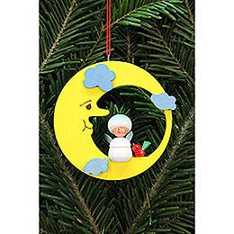 Christbaumschmuck Schneeflöckchen im Mond  -  7,9x7,9cm