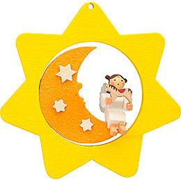 Christbaumschmuck Sternen - Mond - Engel mit Pferd  -  8cm