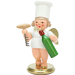Cooking Angel with wine bottle  -  7,5cm / 3 inches