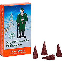 Crottendorfer R�ucherkerzen  -  Winter - Orange