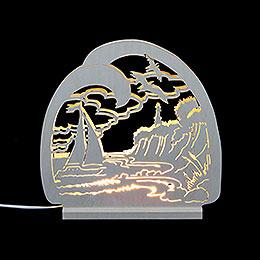 Dekoleuchter Ostsee  -  LED  -  30 x 28,5 x 4,5cm