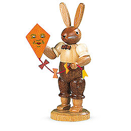 Easter bunny with kite  -  11cm / 4 inch