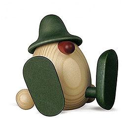 Eierkopf Erwin sitzend, grün  -  11cm