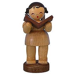 Engel mit Buch -  natur  -  stehend  -  6cm