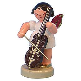 Engel mit Cello  -  Rote Flügel  -  stehend  -  6cm