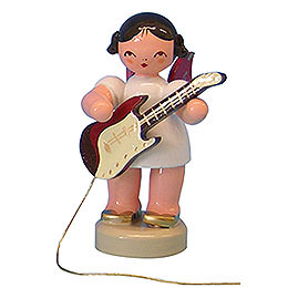 Engel mit E - Gitarre  -  Rote Flügel  -  stehend  -  6cm