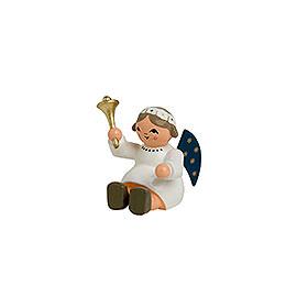Engel mit Glocke, sitzend  -  4cm