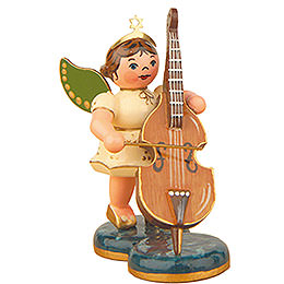 Engel mit Kontrabaß  -  6,5cm