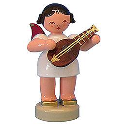 Engel mit Mandoline  -  Rote Flügel  -  stehend  -  6cm