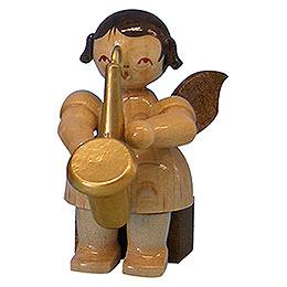 Engel mit Saxophon  -  natur  -  sitzend  -  5cm