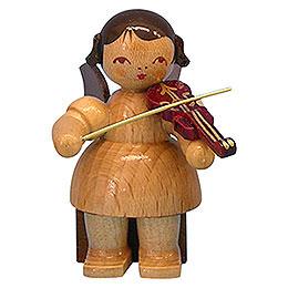 Engel mit Violine  -  natur  -  sitzend  -  5cm