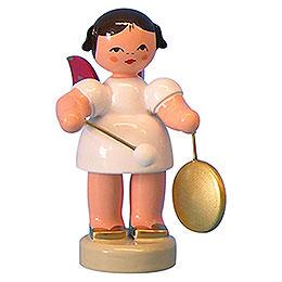 Engel mit kleinem Gong  -  Rote Fl�gel  -  stehend  -  6cm