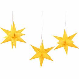 Erzgebirge - Palace Moravian star set of three, gold  -  17cm / 6.7inch