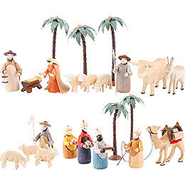 Figurine Set for 3 - Tier Pyramid  -  NATIVITY (coloured)  -  23 pcs.