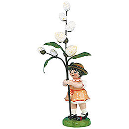 Flower girl with May kitten  -  11cm / 4,3inch