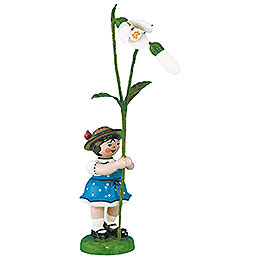 Flower girl with Snowdrops  -  11cm / 4,3inch