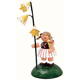 Girl with flower  -  6cm / 2 inch